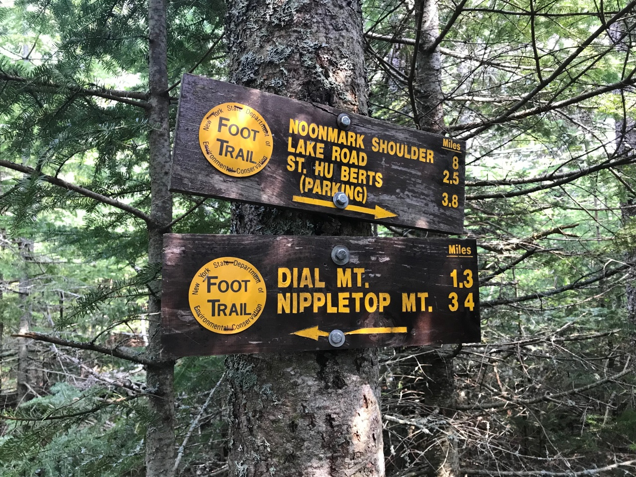 Sign at Bear Den Mountain