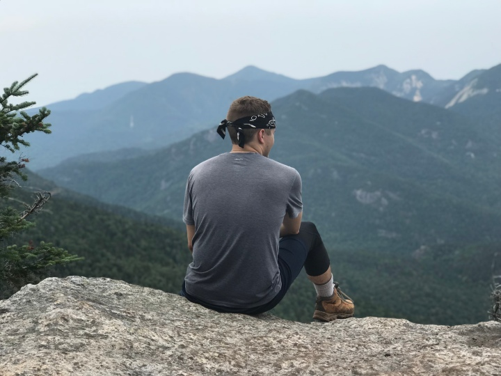 Sitting at the Edge of Dial Mountain