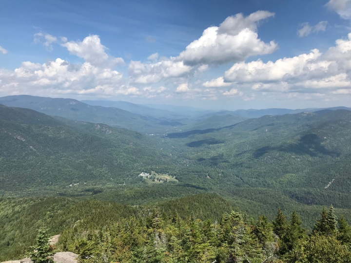 View into Keene Valley from Noonmark Summit