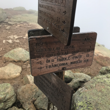 Mount Lafayette Sign