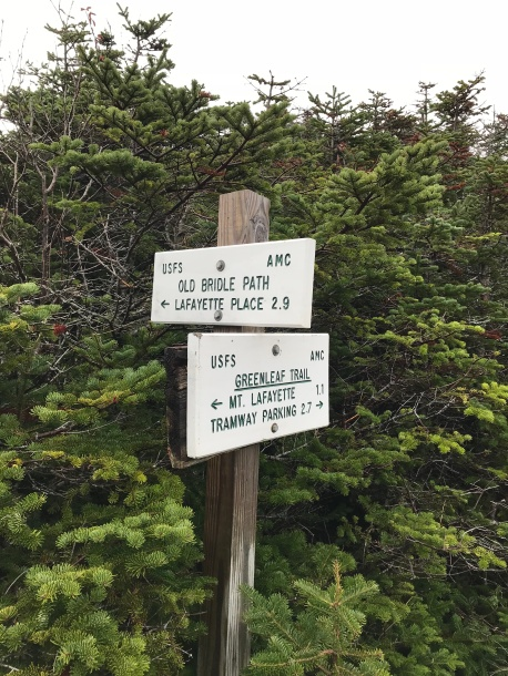 Sign near hut leading to old bridle path