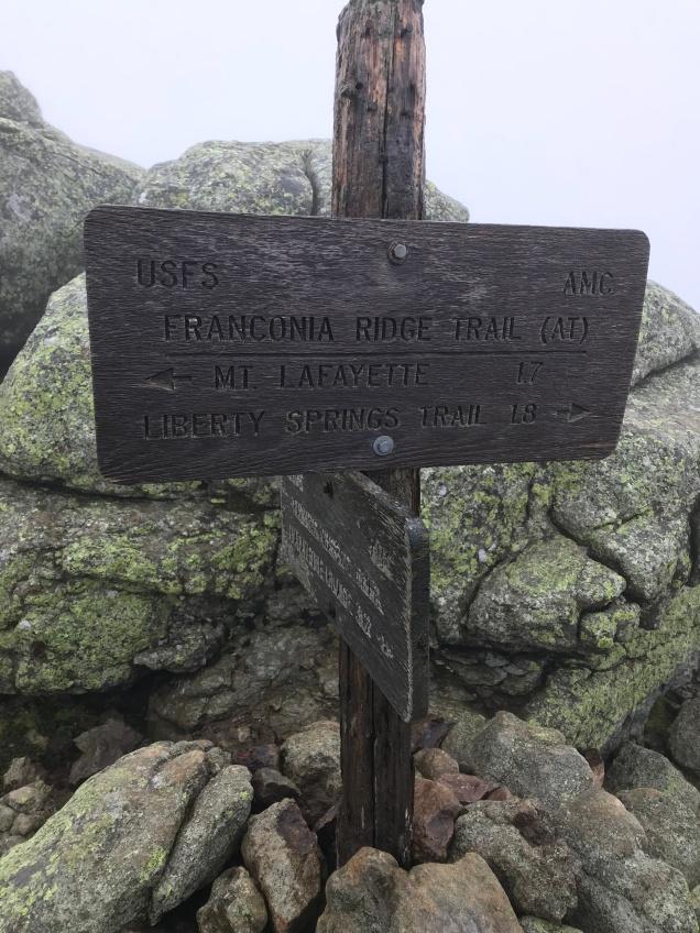 Sign on Little Haystack