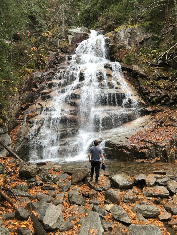 Standing, facing Cloudland Falls