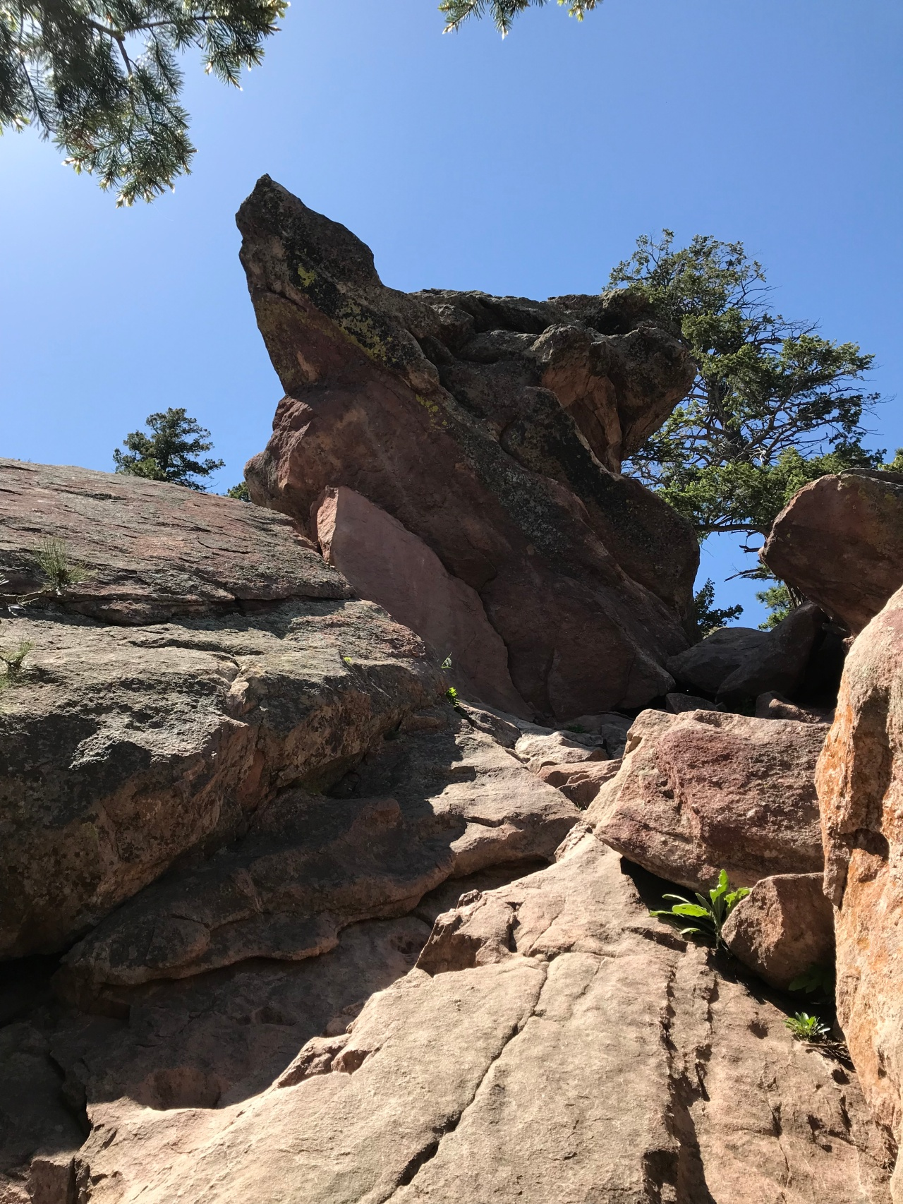 Rock formations on Flatiron Hike