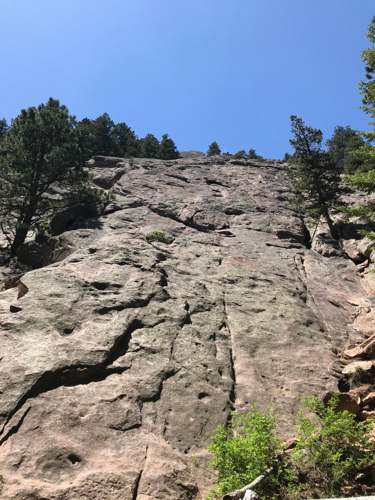 Rock Wall on Flatirons Hike