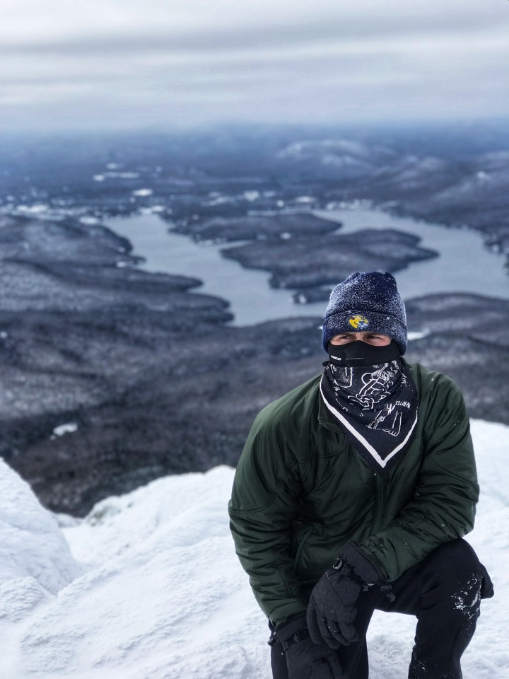 Whiteface view with lake as backdrop