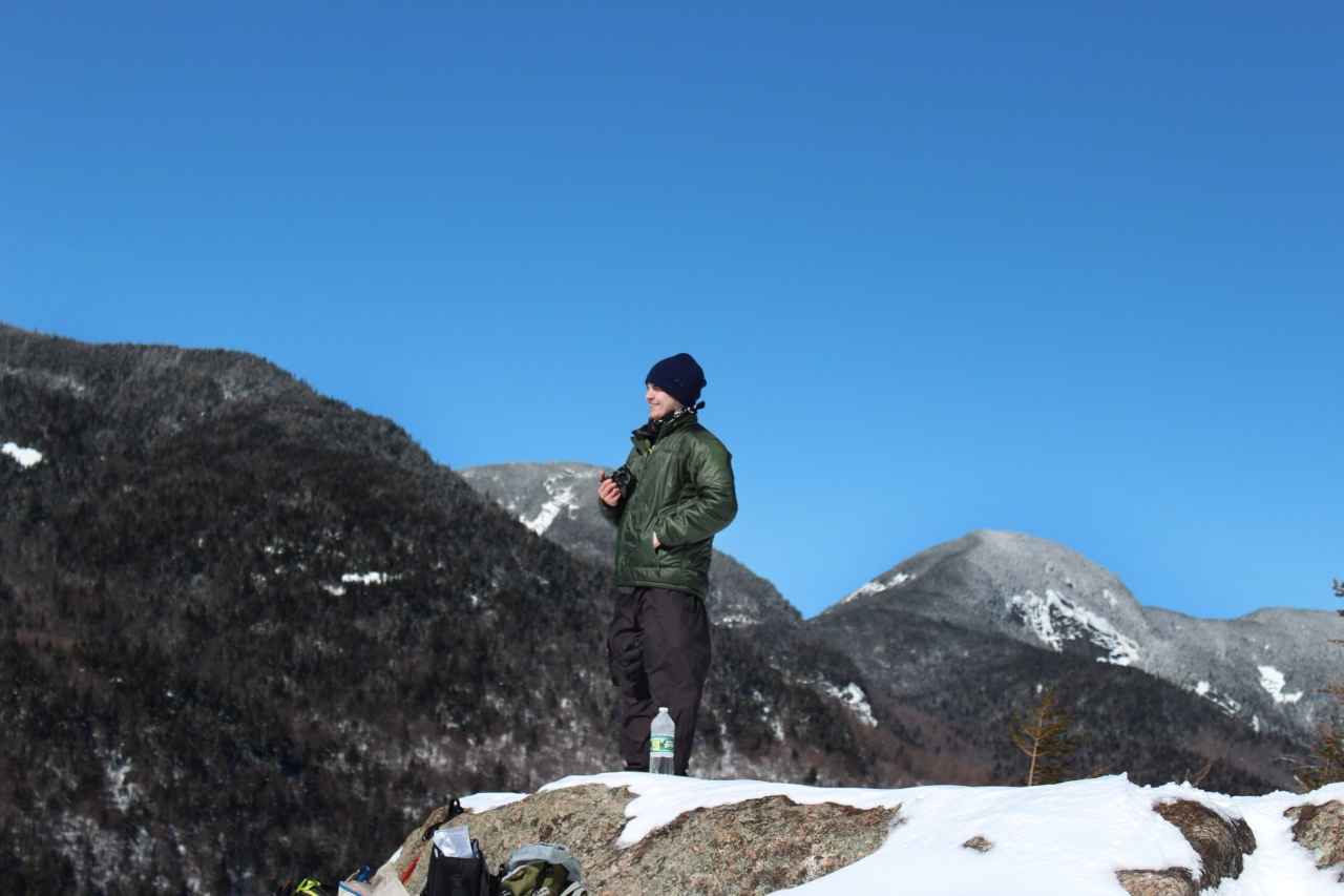 Me standing and smiling at Indian Head 3.1.19