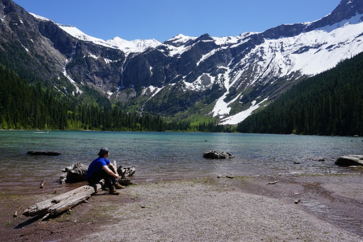 Pic of me sitting at Avalanche Lake