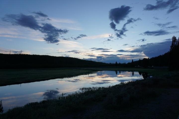 Yellowstone reflection shot