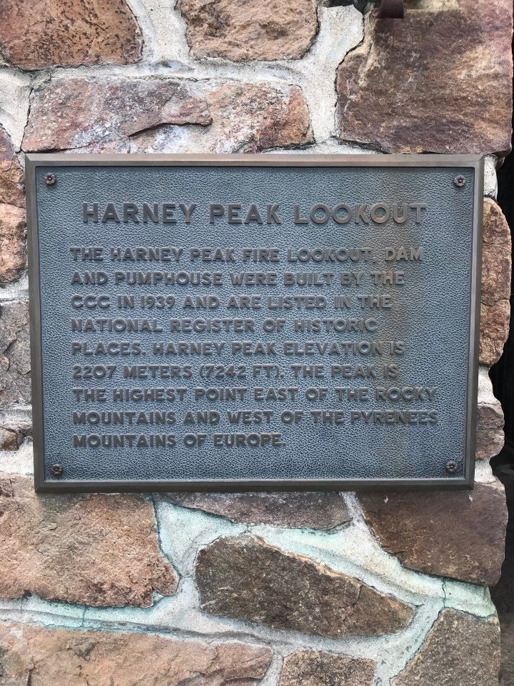 Harney Peak Lookout Sign
