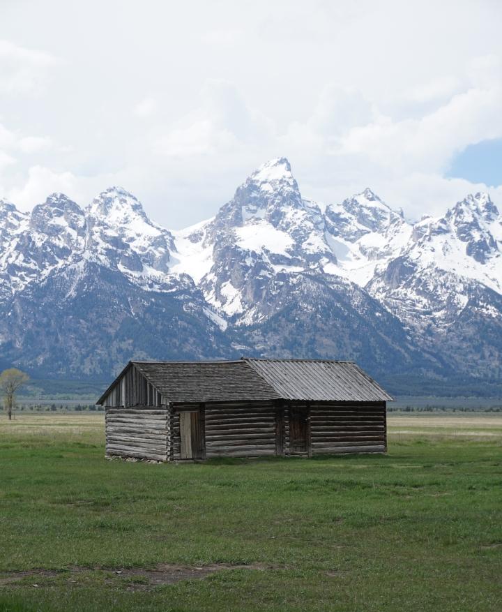 Portrait of wooden house Mormon's Row Historic District