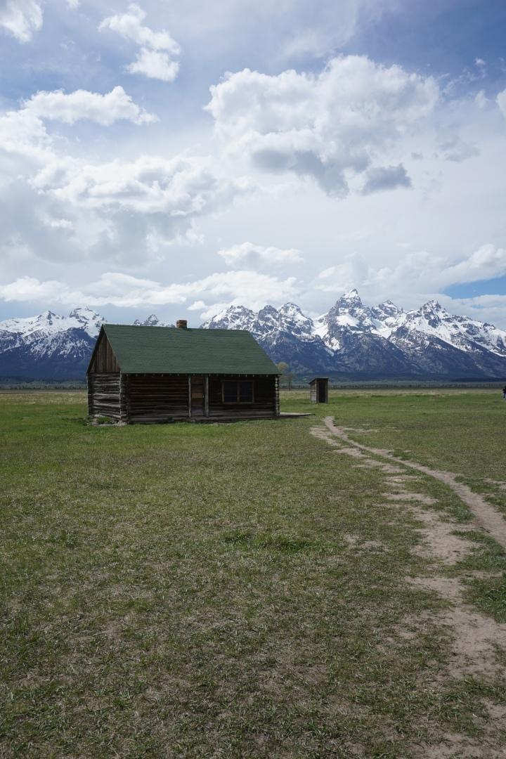 Wood house Mormon's Row