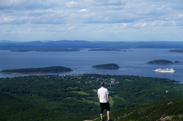 Overlooking Bar Harbor from Cadillac Mountain