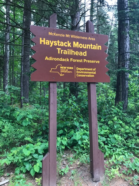 Saranac Haystack Mountain Sign