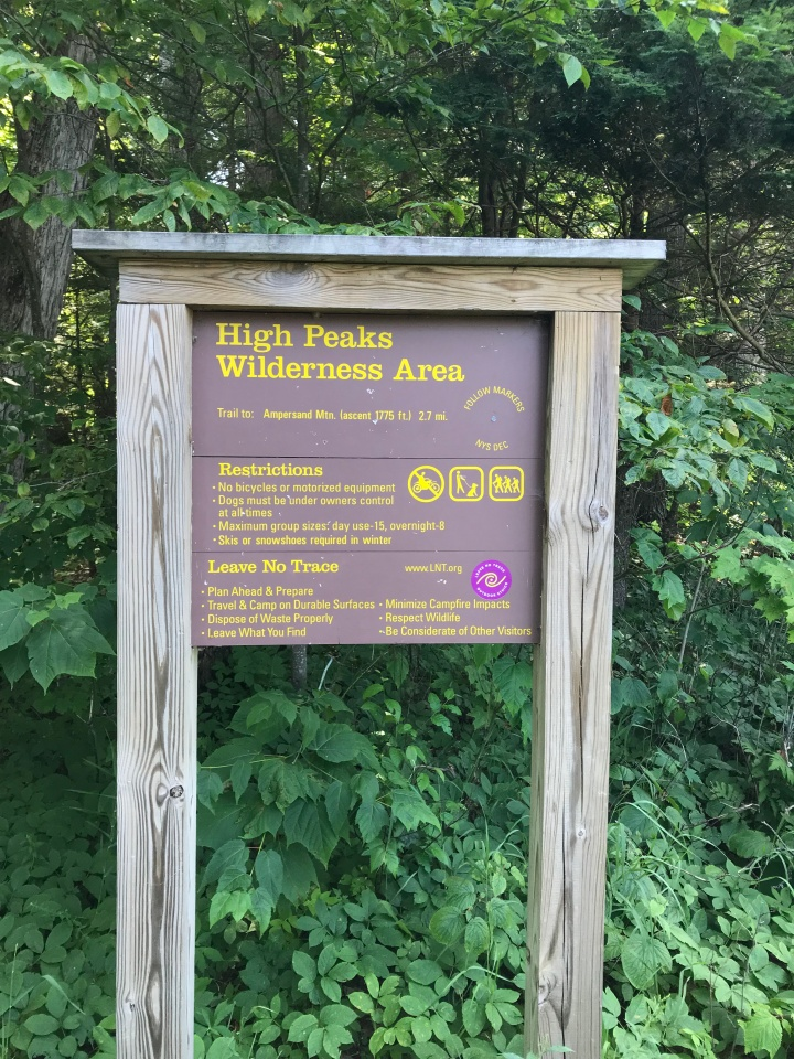 Ampersand Trailhead Sign