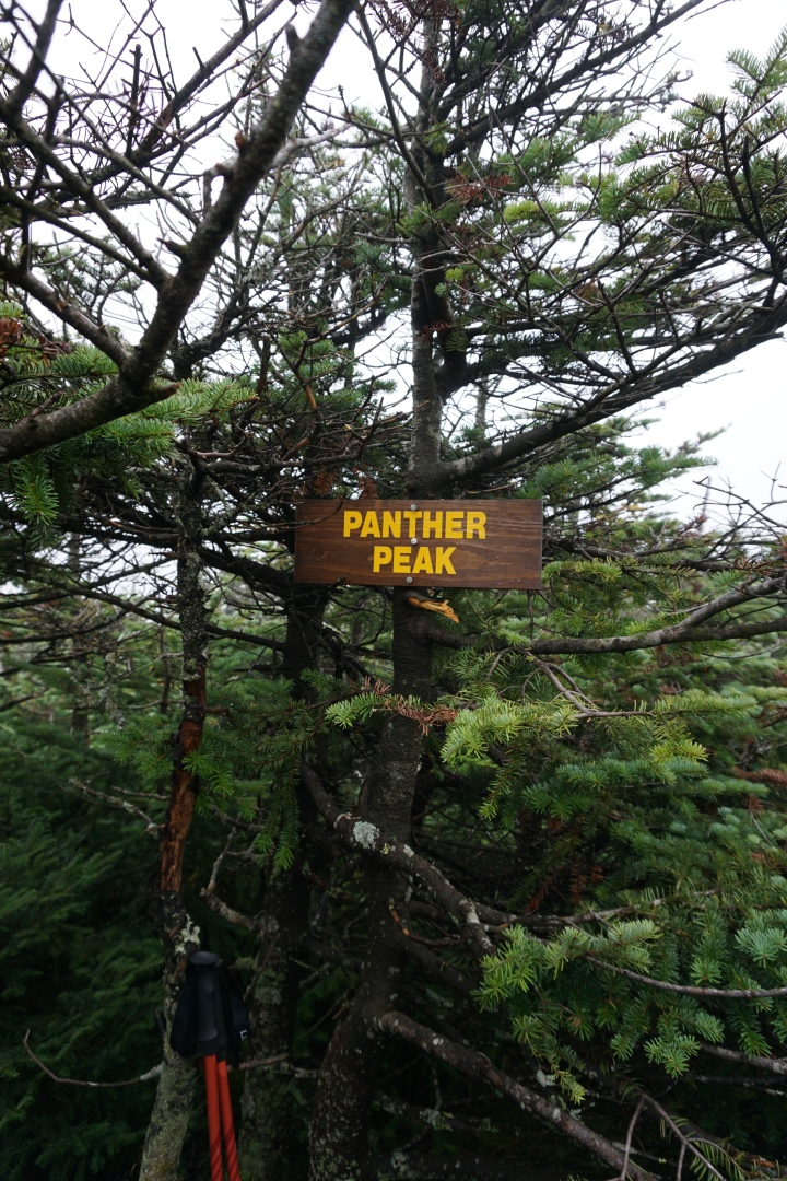Panther Peak Sign