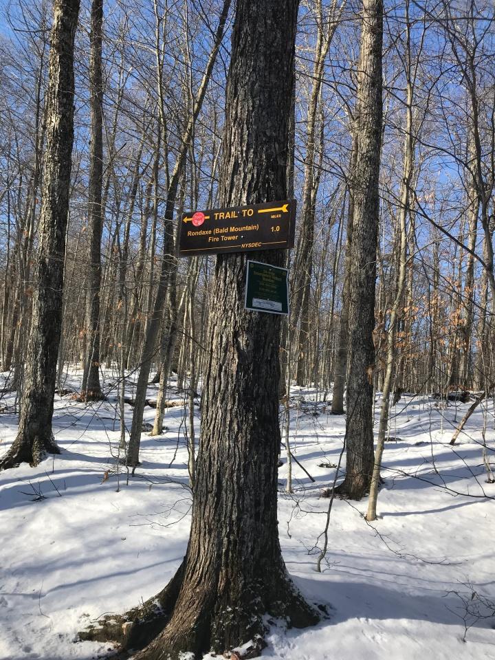 Bald Mountain Trail Sign